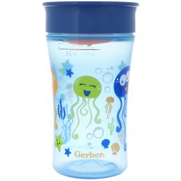 NUK, Magic 360, волшебная чашка-непроливайка, с 12 месяцев, для мальчиков, 10 унц (300 мл)