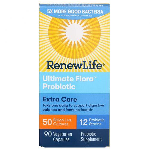 Renew Life, Ultimate Flora Probiotic, 50 Billion, 90 Veggie Caps
