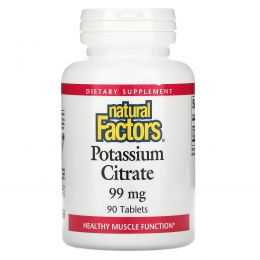 Natural Factors, Цитрат калия, 99 мг, 90 таблеток