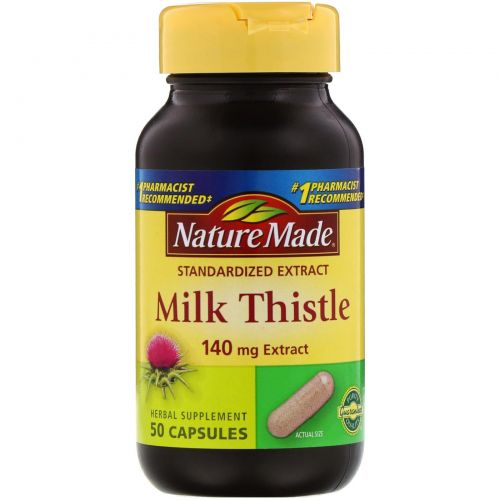 Nature Made, Экстракт расторопши пятнистой, 140 мг, 50 капсул
