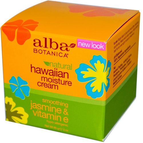 Alba Botanica, Гавайский увлажняющий крем, Жасмин и витамин E, 3 унции (85 г)