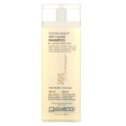 Giovanni, Шампунь для интенсивного очищения волос с пшеницей, 8,5 жидких унций (250 мл)