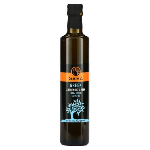 Gaea, Greek, оливковое масло первого отжима, 17 жидких унций (500 мл)