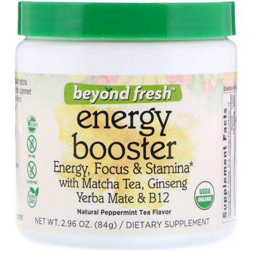 Beyond Fresh, Энергетик; энергия, концентрация и выносливость, со вкусом натурального мятного чая, 2,96 унции (84 г)