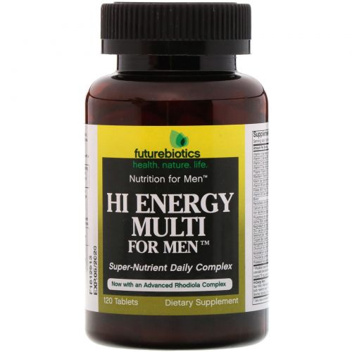 FutureBiotics, Hi Energy Multi for Men, 120 Tablets