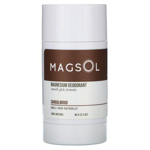 Magsol, дезодорант с магнием, сандал, 95г (3,2 унции)