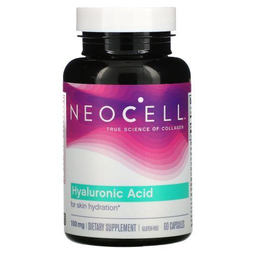 Neocell, Гиалуроновая кислота, природный увлажнитель, 60 капсул
