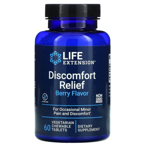Life Extension, PEA Discomfort Relief, 60 Chewable Tablets