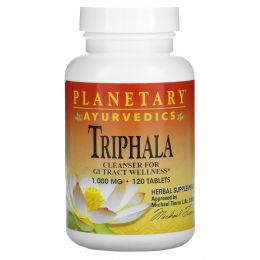 Planetary Herbals, Ayurvedics, Triphala, 1000 мг, 120 таблеток
