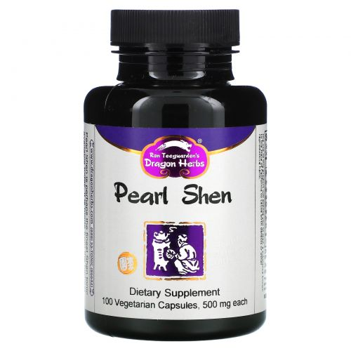 Dragon Herbs, Pearl Shen, 500 мг, 100 растительных капсул