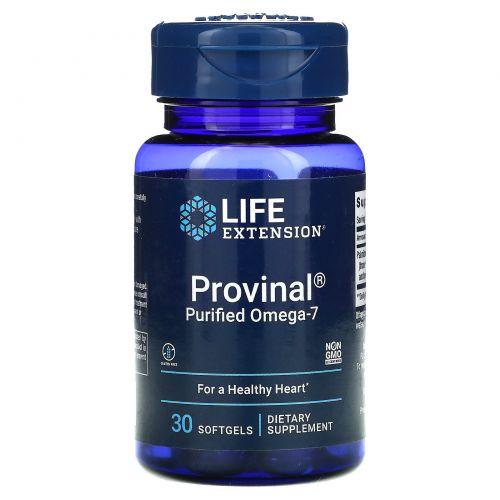 Life Extension, Provinal, Очищенная форма омега-7, 30 гелевых капсул