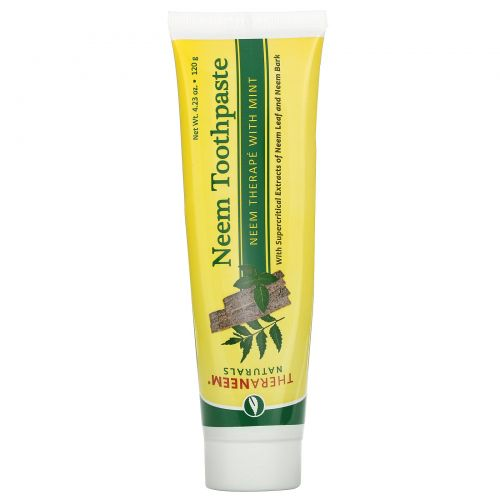 Organix South, TheraNeem Naturals, Neem Toothpaste with Mint, 4.23 oz (120 g)