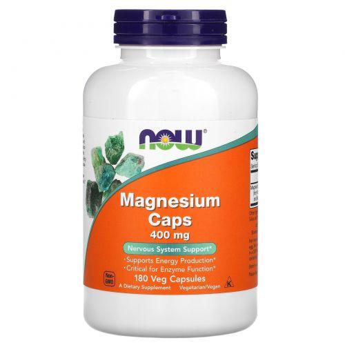 Now Foods, Magnesium Caps, 400 mg, 180 Capsules