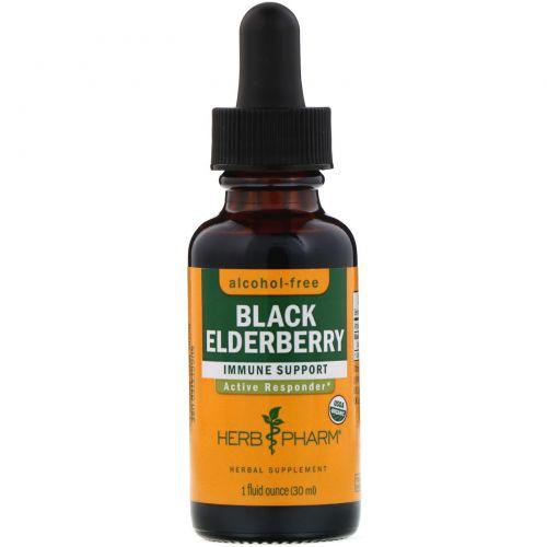 Herb Pharm, Черная бузина, безалкогольная, 1 жидкая унция (29,6 мл)