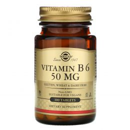 Solgar, Vitamin B6, 50mg, 100 Tablets