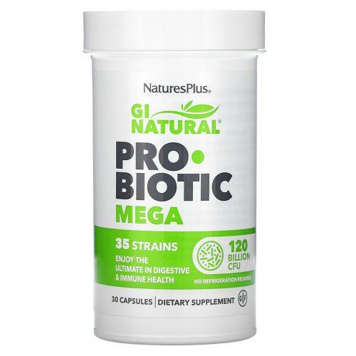 Nature's Plus, GI Natural Probiotic Mega, 120 Billion CFU, 30 Capsules