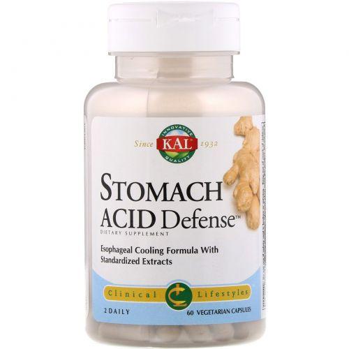 KAL, Stomach Acid Defense, 60 Vegetarian Capsules