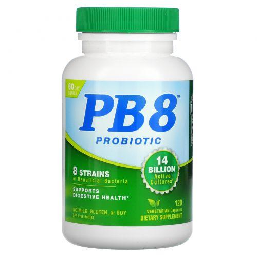 Nutrition Now, PB8, пробиотический ацидофилус для жизни, 120 капсул в растительной оболочке