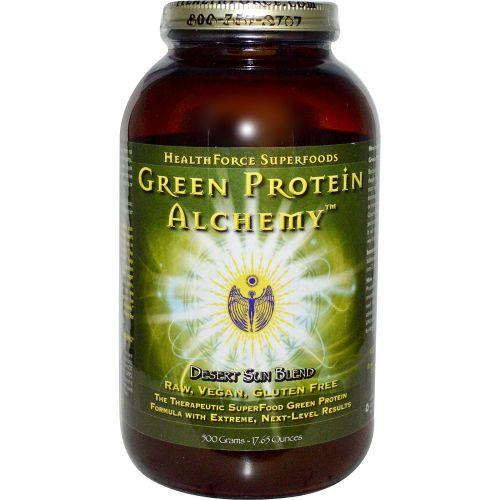 HealthForce Nutritionals, Белковая смесь Green Protein Alchemy, Desert Sun Blend, 17,65 унций (500 г)