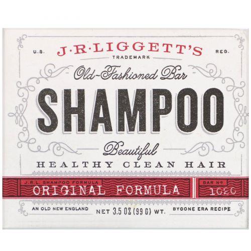 J.R. Liggett's, Традиционный твердый шампунь, 3,5 унции (99 г)
