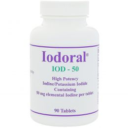 Optimox Corporation, Йодорал, 50 мг, 90 таблеток
