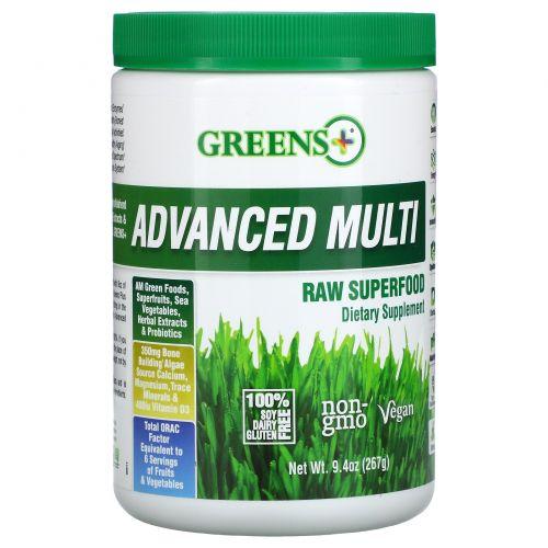Greens Plus, Усовершенствованный суперпродукт, порошок из сырых овощей и зелени , 9.4 унций (276 г)