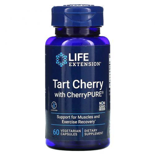 Life Extension, CherryPure, экстракт вишни, 60 вегетарианских капсул