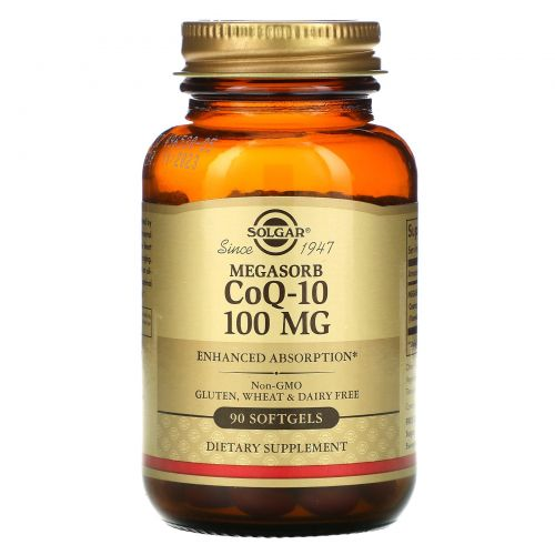 Solgar, Megasorb CoQ-10, 100mg, 90 Softgels