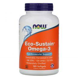 Now Foods, Омега-3, Без холестерина, 180 желатиновых капсул