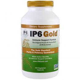 IP-6 International, IP6 Gold, формула для поддержки иммунной системы, 240 растительных капсул