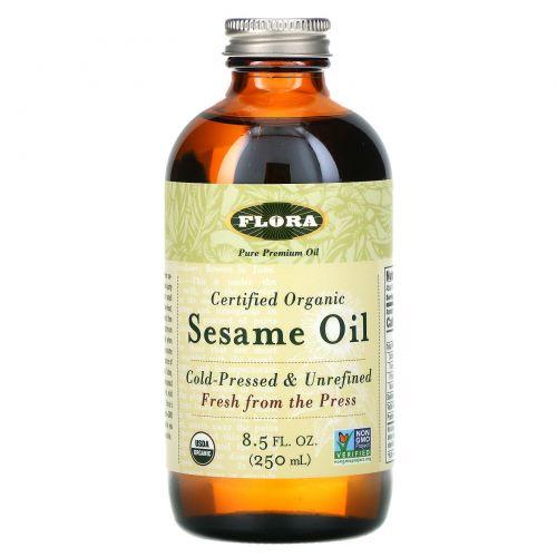 Flora, Настоящее органическое кунжутное масло, 8.5 жидких унций (250 мл)