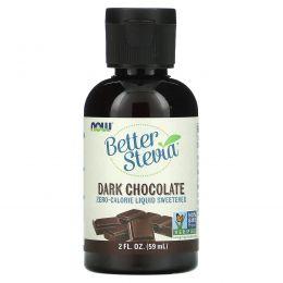 Now Foods, Улучшенная стевия, жидкий подсластитель со вкусом горького шоколада, 2 жидких унции (60 мл)