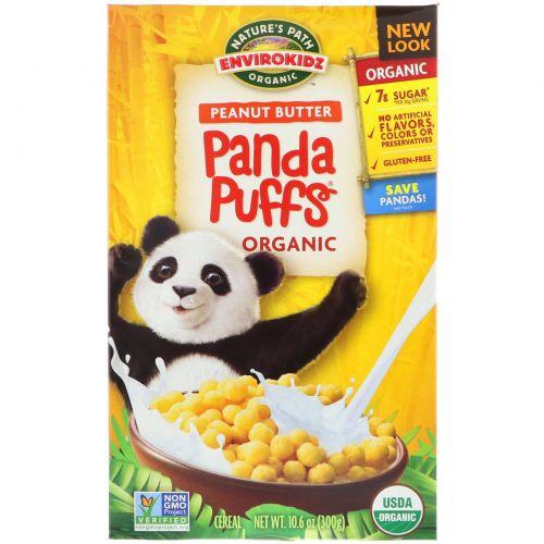 Nature's Path, EnviroKidz, Хлопья Panda с органическим арахисовым маслом, 10,6 унций (300 г)