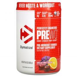 Dymatize Nutrition, Pre W.O., охлажденная смесь фруктов, 14,11 унций (400 г)