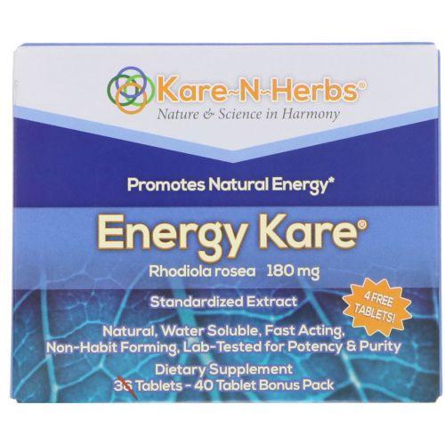 Kare n Herbs, Энергетическая добавка Energy Kare, 40 таблеток