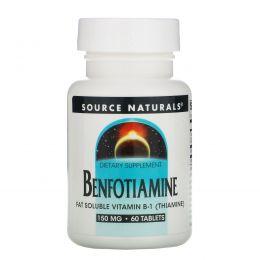 Source Naturals, Бенфотиамин, 150 мг, 60 таблеток