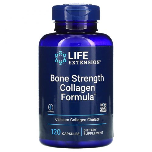 Life Extension, Bone Strength Formula With KoAct, состав для укрепления костей с комплексом KoAct, 120 капсул