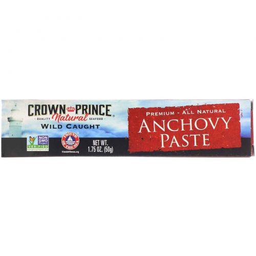 Crown Prince Natural, Паста из анчоусов, 1,75 унции (50 г)