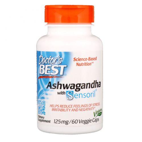 Doctor's Best, Best Ashwagandha, с Sensoril, 125 мг, 60 растительных капсул