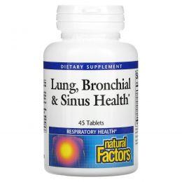 Natural Factors, Lung, Bronchial & Sinus Health, 45 таблеток