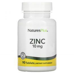Nature's Plus, Цинк, 10 мг, 90 таблеток