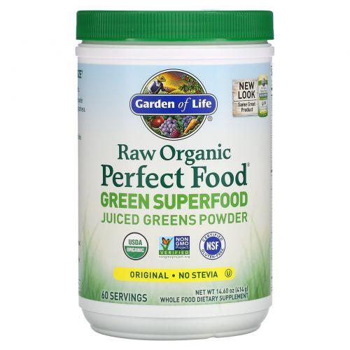 Garden of Life, Сырая органическая совершенная еда, растительная супереда, оригинальный вкус, 419 г (14.8 унций)