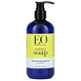 EO Products, Жидкое мыло для рук, лимон и эвкалипт, 12 жидких унций (360 мл)