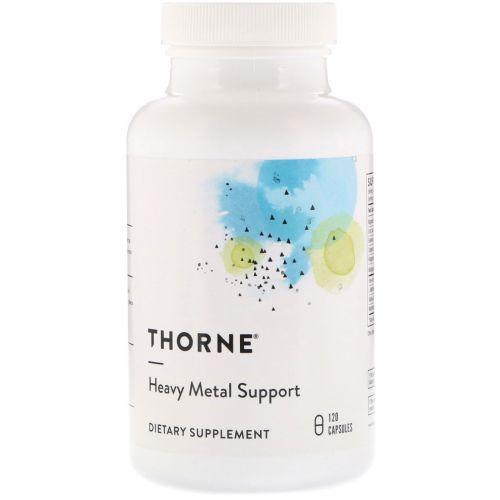 Thorne Research, Heavy Metal Support, 120 растительных капсул