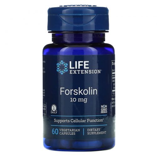 Life Extension, Форсколин, 10 мг, 60 капсул