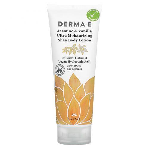 Derma E, Hydrating Shea Body Lotion, Jasmine & Vanilla , 8 oz (227 g)