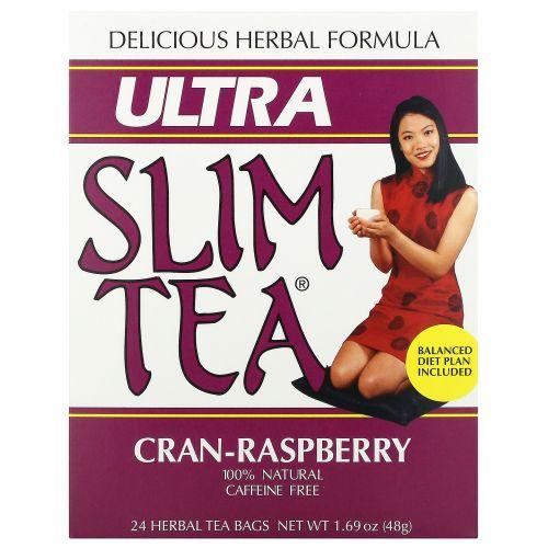 Hobe Labs, Ultra Slim чай, -малина, без кофеина 24 травяных чайных пакетиков, 1.69 унции (48 г)