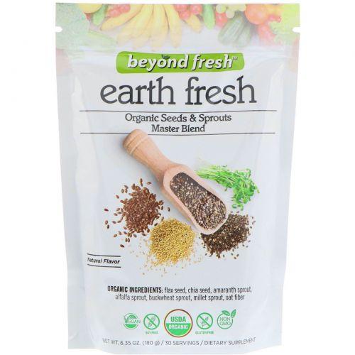 Beyond Fresh, Свежесть земли, органическая эталонная семян и проростков, натуральный вкус, 180 г