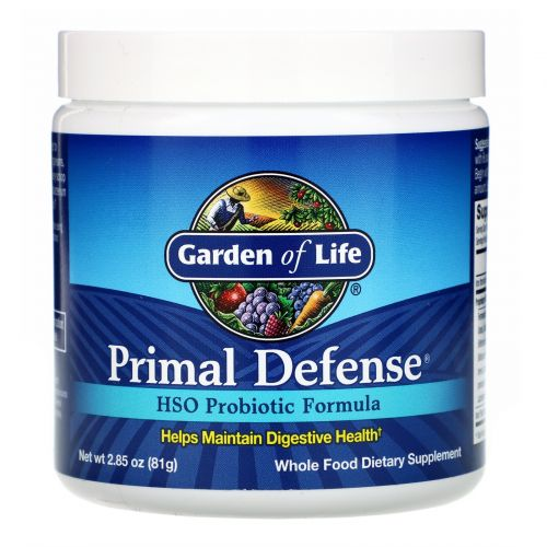 Garden of Life, Первичная защита, порошок, пробиотическая формула с HSO (гомеостатическими почвенными организмами), 2.86 унций (81 г)