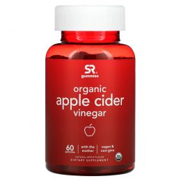 Sports Research, Organic Apple Cider Vinegar with the Mother, Natural Apple , 60 Gummies